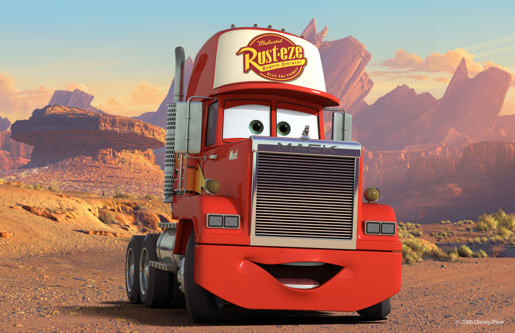 Mack on the road wallpaper cars pixar