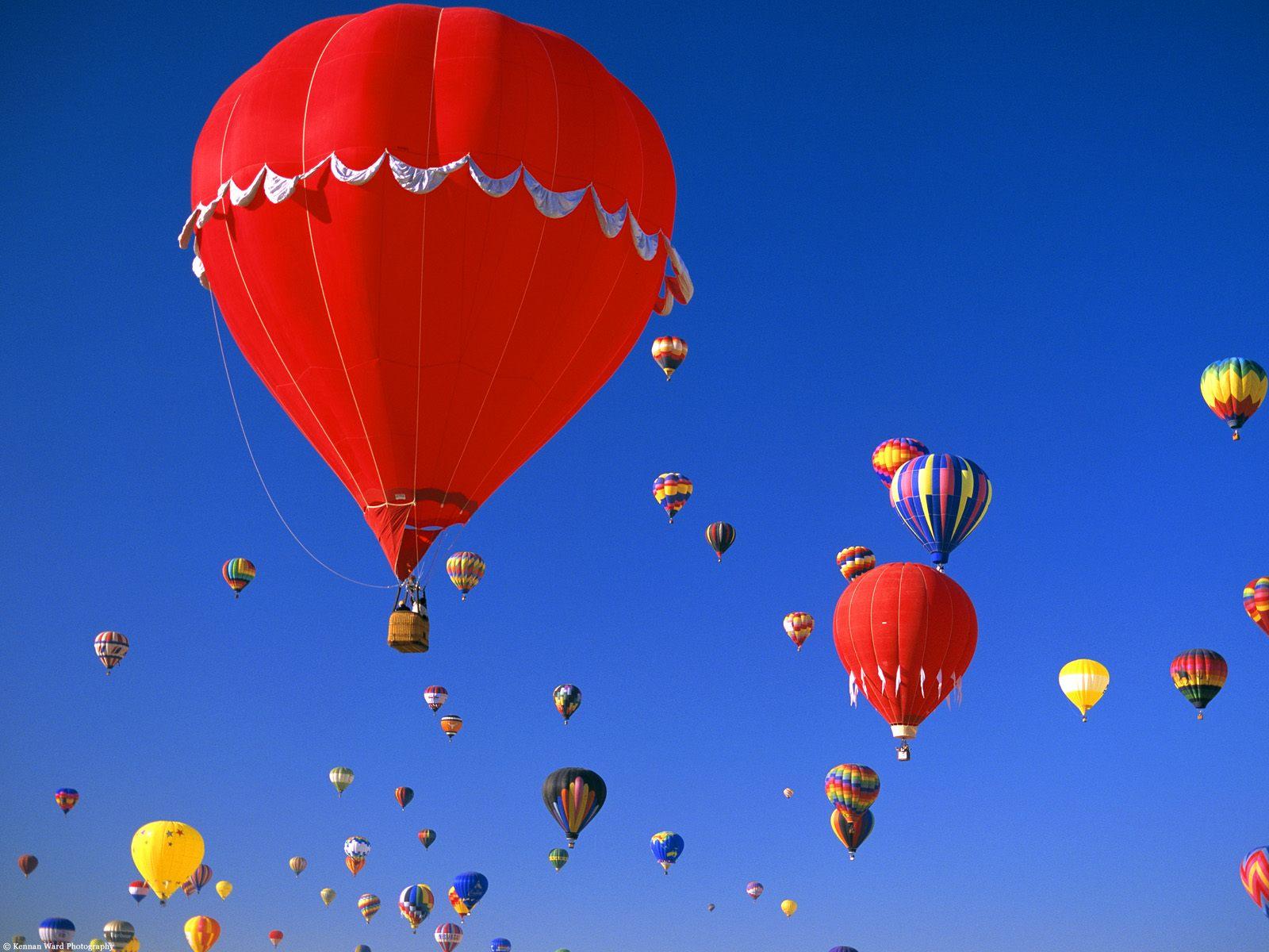 Wallpaper - luchtballonnen
