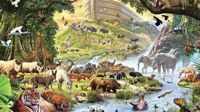 Fonkelnieuw Kids-n-fun | 8 Kleurplaten van Bijbel Ark van Noah TD-37