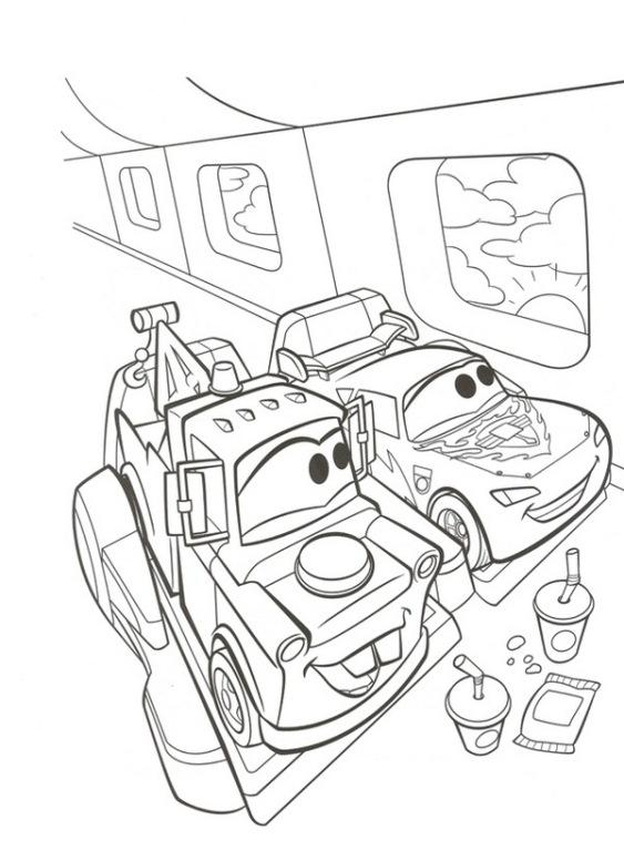 kleurplaten cars vliegtuig