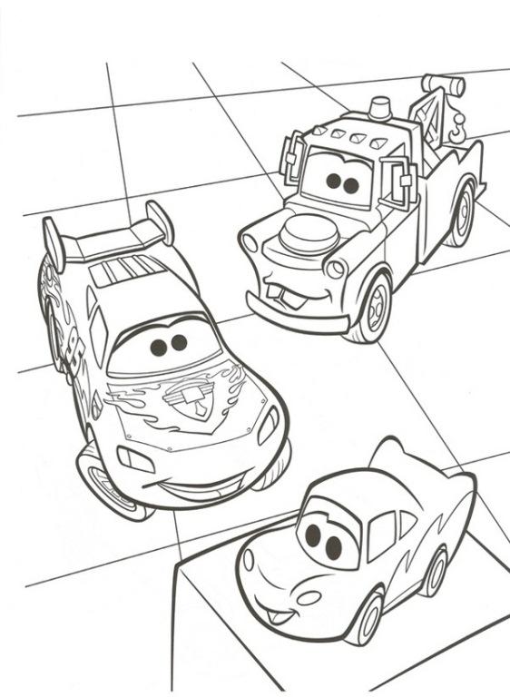 kleurplaten van cars 2