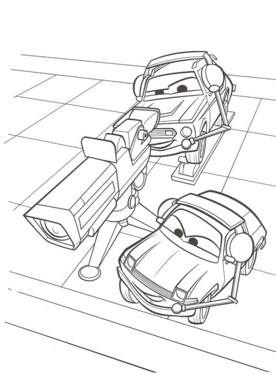 kidsnfun  38 kleurplaten van cars 2