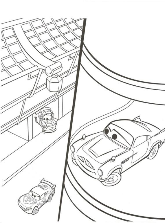 Kleurplaten Cars 2 Finn.Kids N Fun Kleurplaat Cars 2 Finn Mcmissle