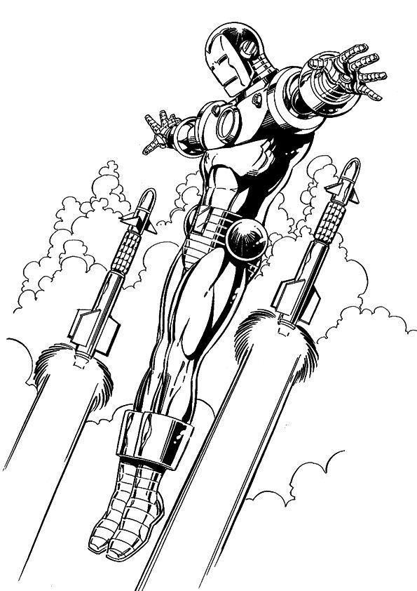 Kleurplaten Marvel Avengers.Iron Man Hulkbuster Kleurplaat