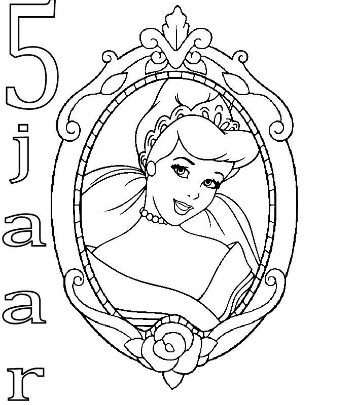 Kleurplaat Meisje 5 Jaar Archidev