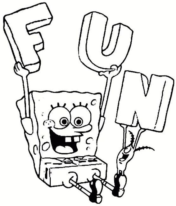 Kids n fun 39 kleurplaten van spongebob for Art is fun coloring pages