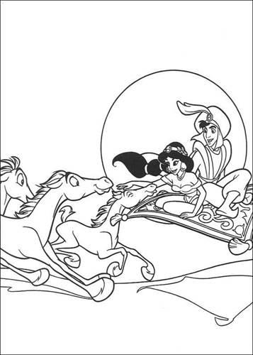 Kleurplaten Aladdin En Jasmine.Kids N Fun 60 Kleurplaten Van Aladdin