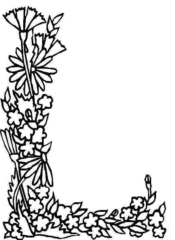 Kids n fun 26 kleurplaten van alfabet bloemen for L coloring pages