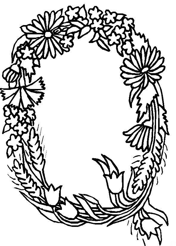 l flower coloring pages | Kids-n-fun | 26 Kleurplaten van Alfabet bloemen