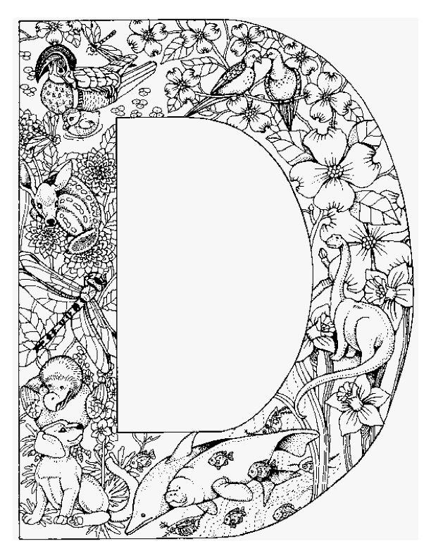 kleurplaten letters dieren