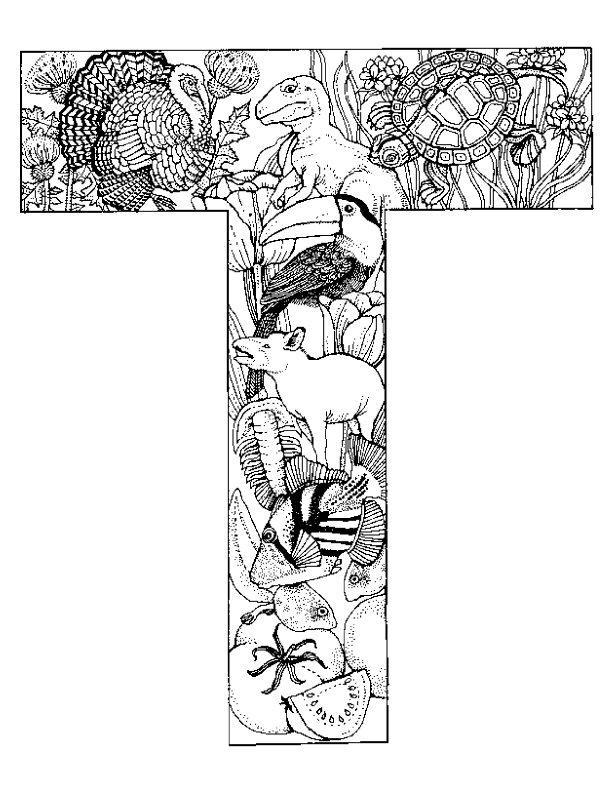 Detailed Alphabet Coloring Pages : Kids n fun kleurplaten van alfabet dieren
