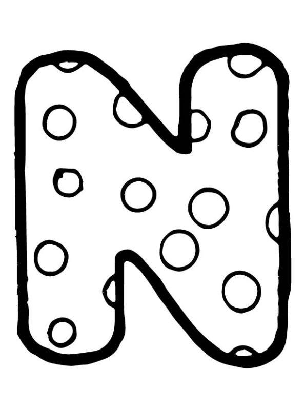 kleurplaten letters met bolletjes