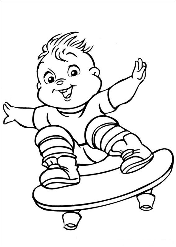 Kids-n-fun   26 Kleurplaten van Alvin en de Chipmunks