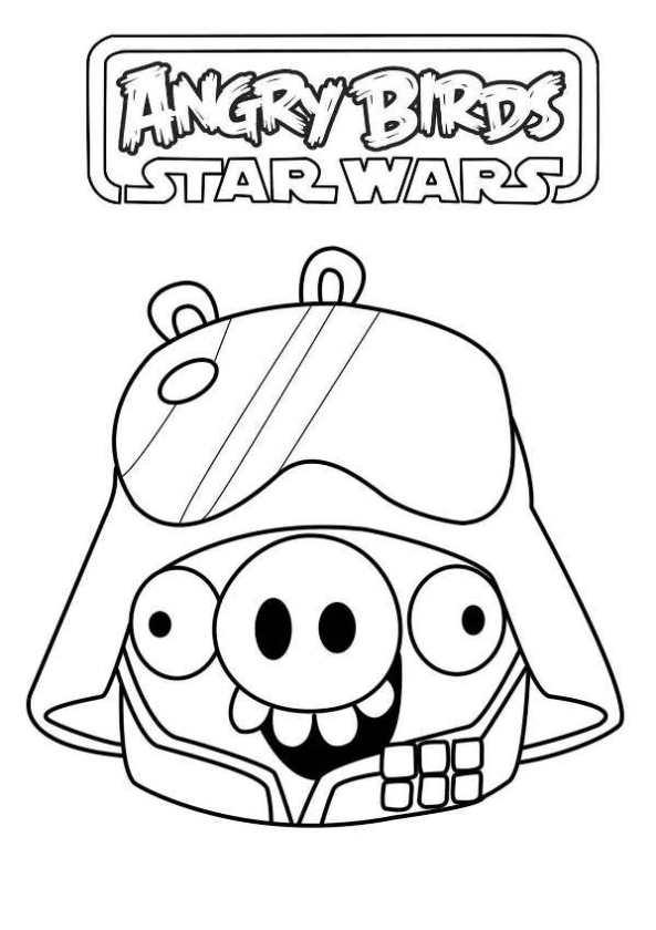 Kleurplaat Angry Birds Star Wars 2 - ARCHIDEV
