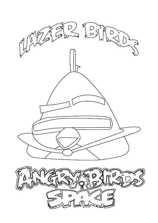 Kleurplaat Angry Birds Space - ARCHIDEV