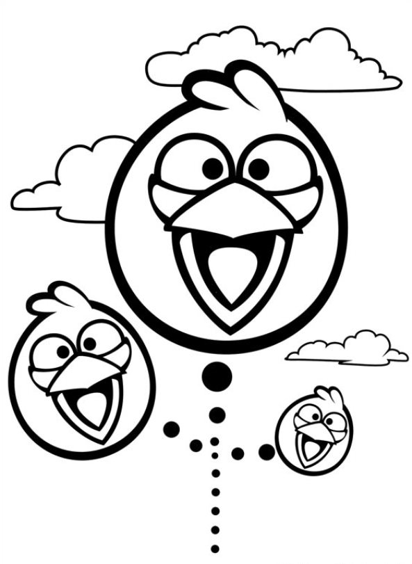 Kids-n-fun  42 Kleurplaten van Angry Birds