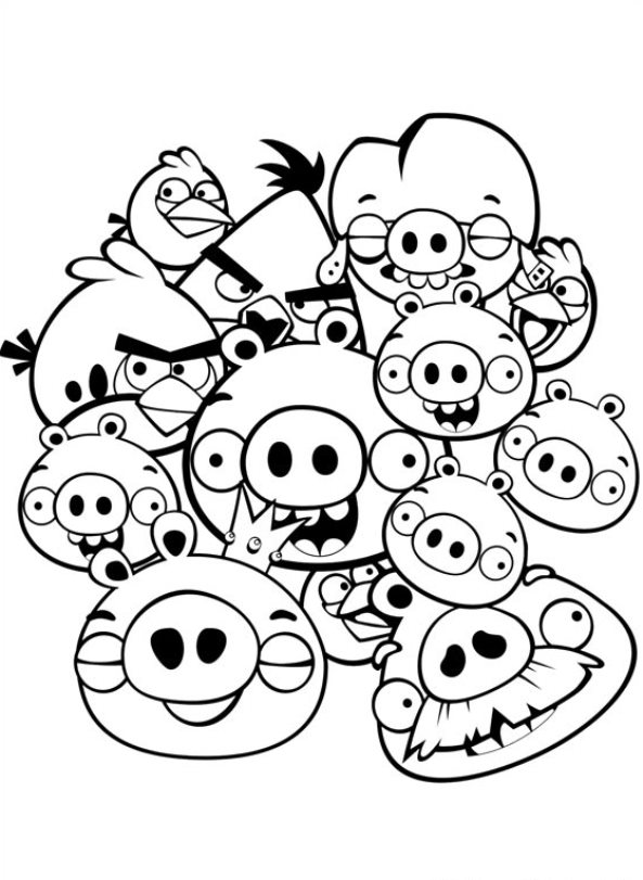 Kids n fun kleurplaat angry birds angry birds for Coloring pages for paint program