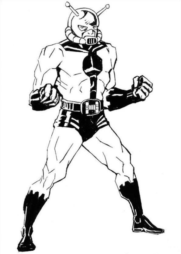 Tim Struppi 3 Gratis Malvorlage In Comic: Kleurplaat Ant Man Ant Man