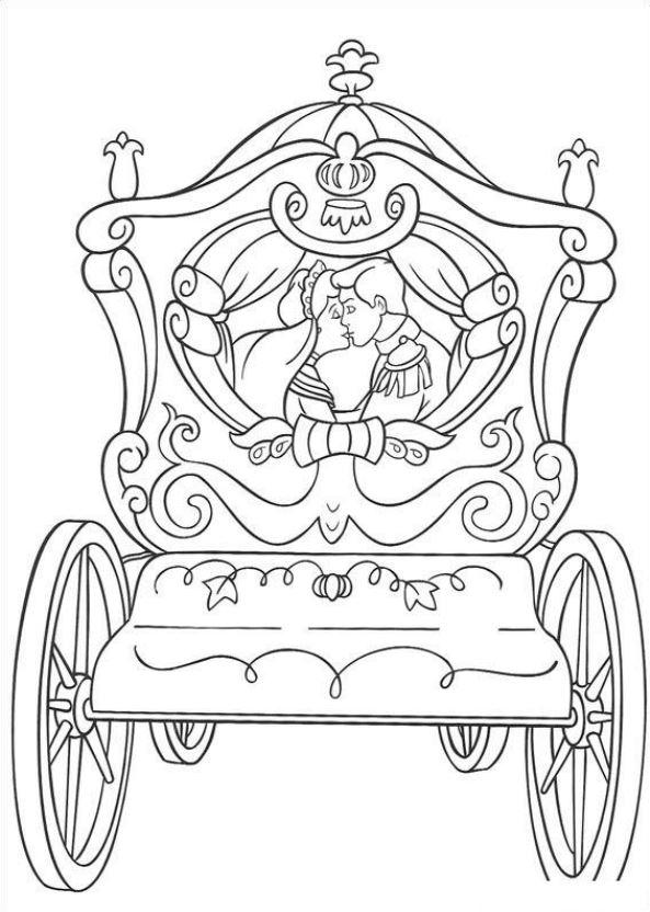 Kleurplaten Paard Met Koets Archidev