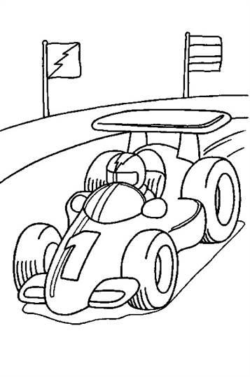 Kleurplaten Van Een Raceauto.Kids N Fun 38 Kleurplaten Van Auto