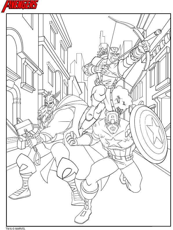 Image Result For Captain America Coloring Pages Thor