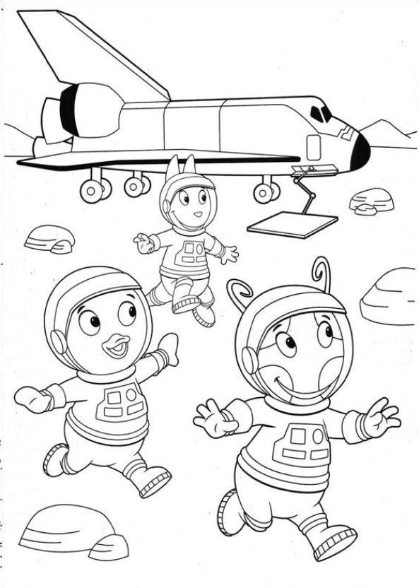 Kids N Fun 24 Kleurplaten Van Backyardigans