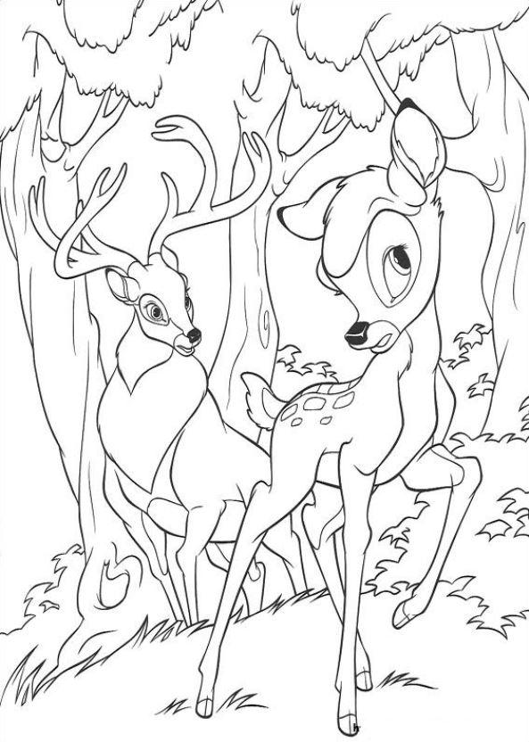Kids N Fun Kleurplaat Bambi 2 Bambi En Zijn Vader