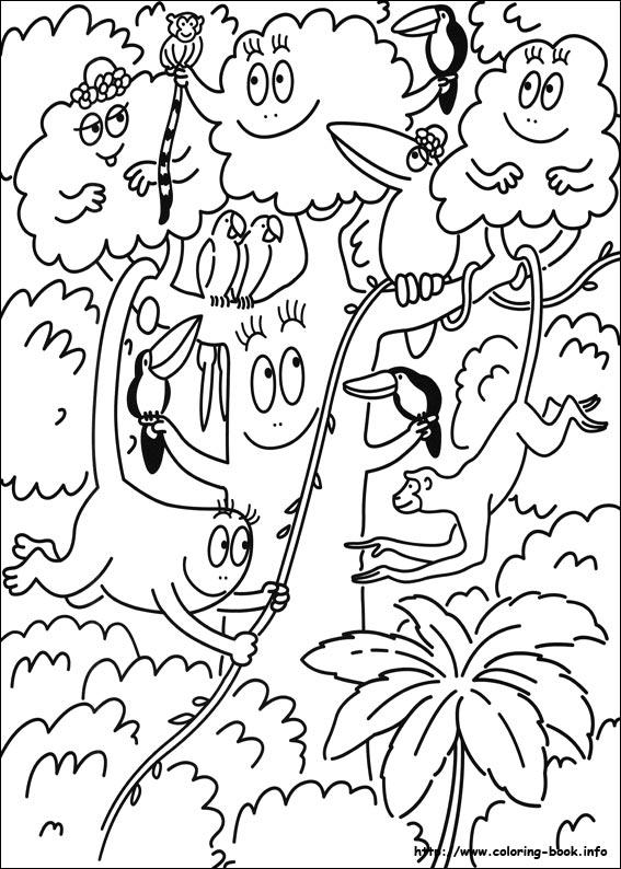 Kleurplaat Printen Jungle Kids N Fun 29 Kleurplaten Van Barbapapa