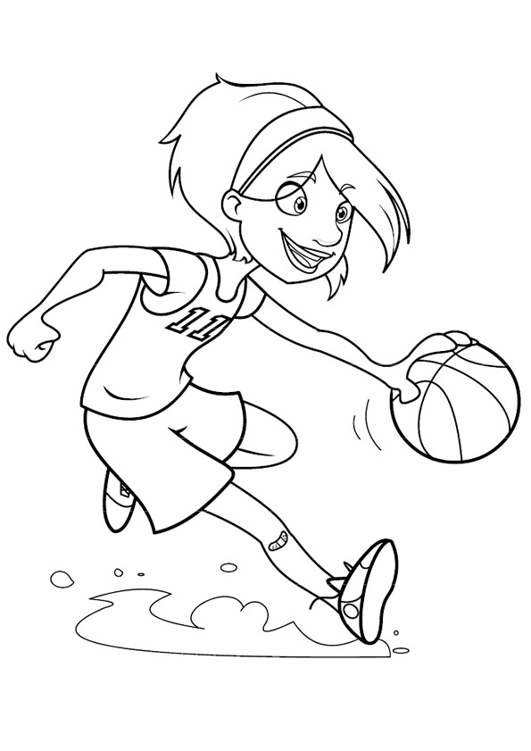 Kids n fun 17 kleurplaten van basketbal - Dessin basket ...