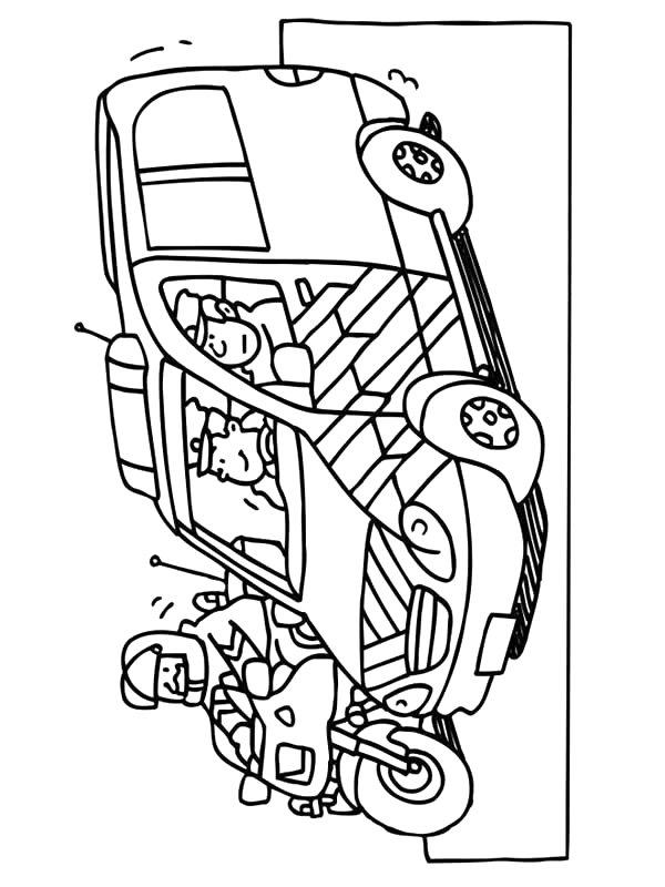 Kids N Fun Kleurplaat Beroepen Ambulance Chauffeur