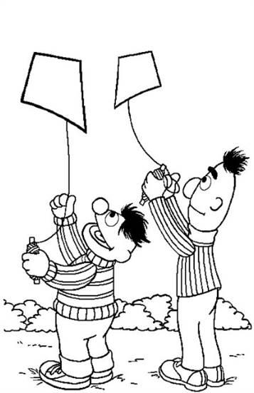 Kids N Fun 12 Kleurplaten Van Sesamstraat Bert En Ernie
