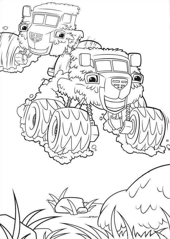 Kids N Fun 30 Kleurplaten Van Blaze En De Monsterwielen