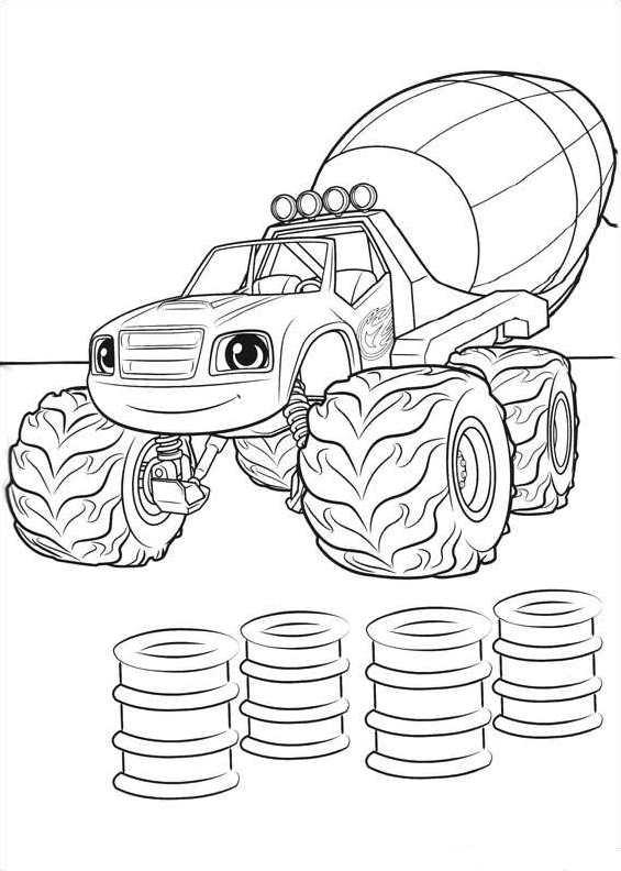 Kleurplaten Monster Trucks Print Kids N Fun Kleurplaat Blaze En De Monsterwielen Blaze En