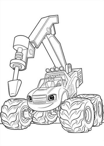 Kleurplaten Robots Afdrukken.Kids N Fun 30 Kleurplaten Van Blaze En De Monsterwielen