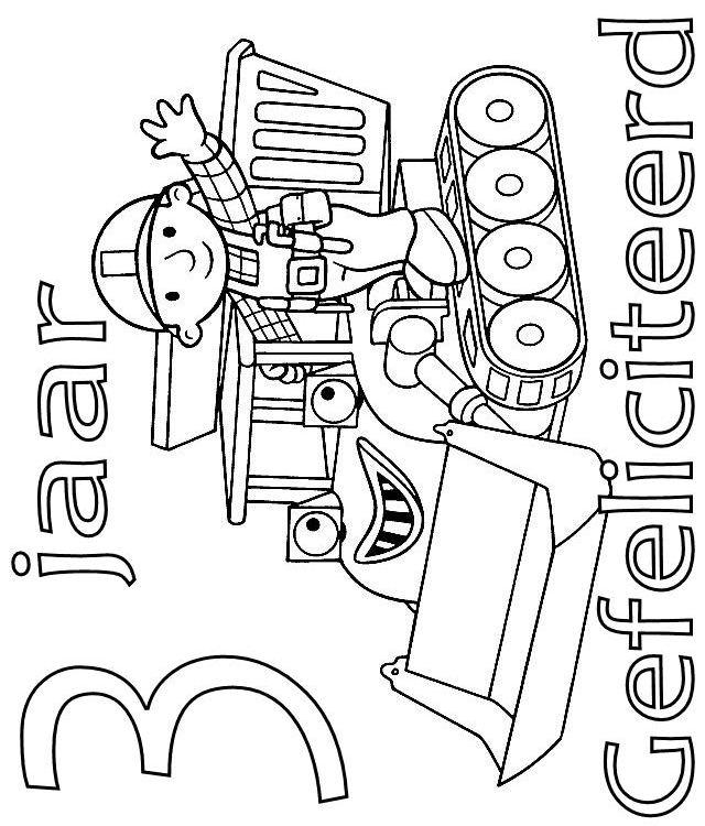 Kleurplaten Bob De Bouwer.Kids N Fun Kleurplaat Bob De Bouwer Verjaardag Bob En Muck 3 Jaar