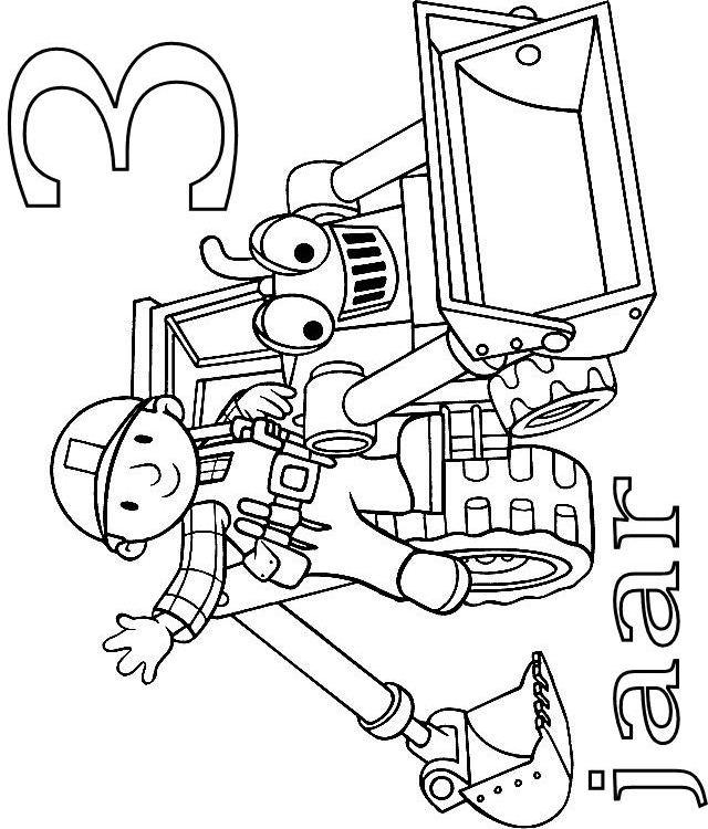 Kids N Fun 24 Kleurplaten Van Bob De Bouwer Verjaardag