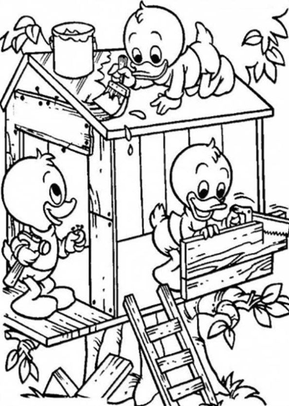 Kids N Fun 11 Kleurplaten Van Boomhutten Build A Coloring Pages