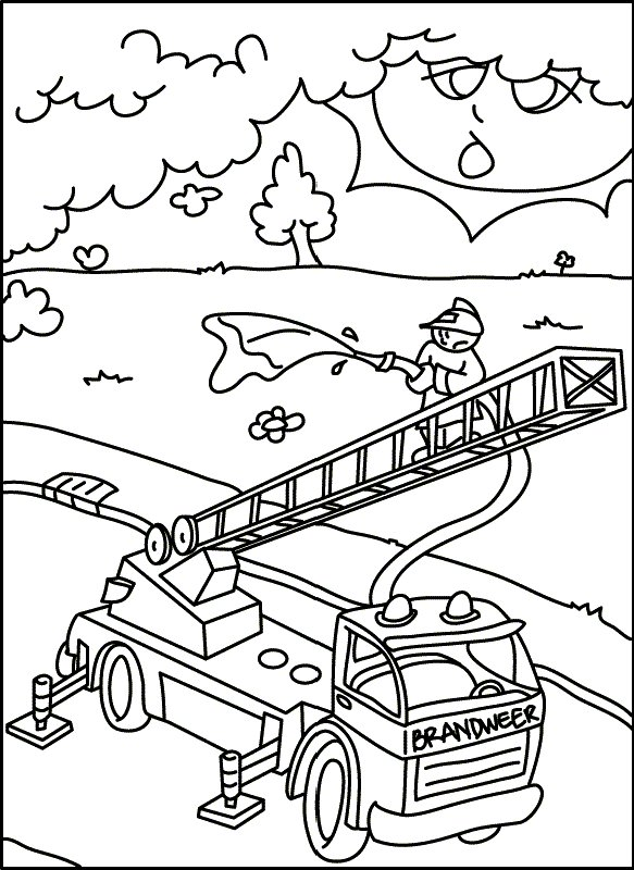 firefighters tools coloring pages - photo#20
