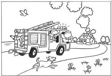 n 28 kleurplaten brandweer