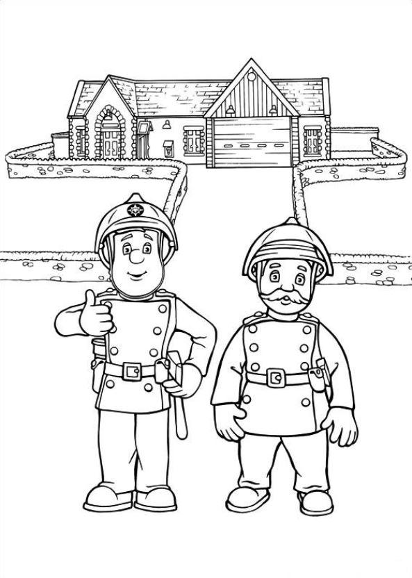 Leuke Kleurplaten Brandweerman Sam.Brandweerman Sam Kleurplaat