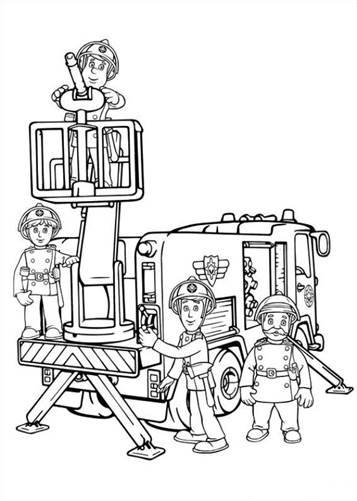 Gratis Kleurplaten Fireman Sam.Kids N Fun 38 Kleurplaten Van Brandweerman Sam