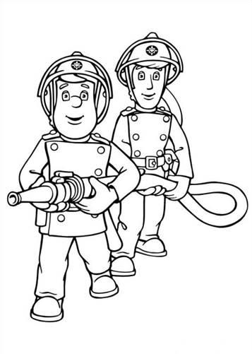 Leuke Kleurplaten Brandweerman Sam.Kids N Fun 38 Kleurplaten Van Brandweerman Sam