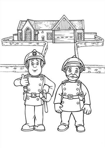 Kleurplaten Printen Brandweer.Kids N Fun 38 Kleurplaten Van Brandweerman Sam