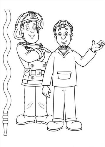Kleurplaten Sam De Brandweerman.Kids N Fun 38 Kleurplaten Van Brandweerman Sam
