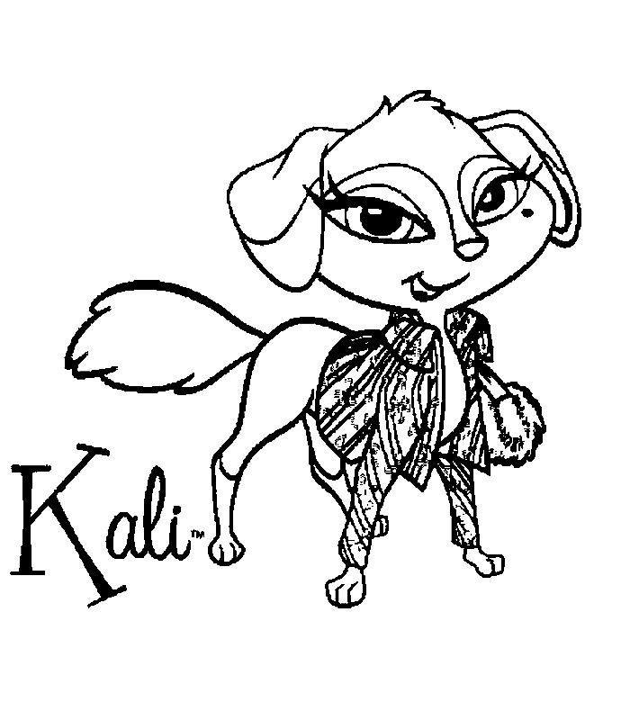 Kids-n-fun   Kleurplaat Bratz Petz Bratz Petz Kali