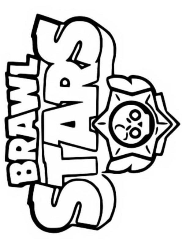 kidsnfun  kleurplaat brawl stars brawl stars logo