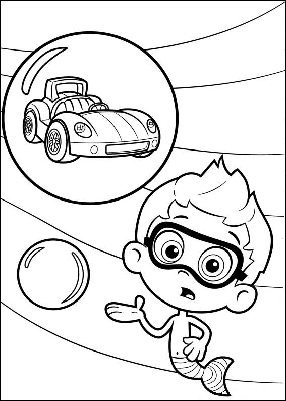 Nonny bubble guppies coloring pages