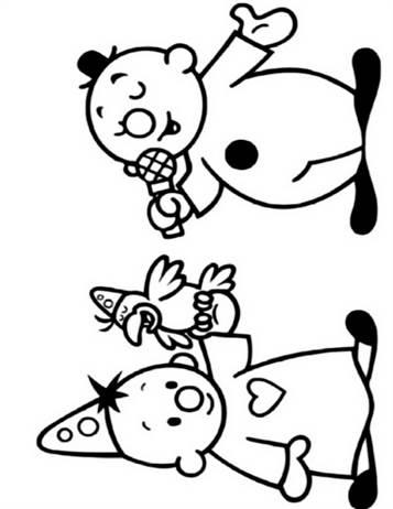 Onwijs Kids-n-fun | 21 Kleurplaten van Bumba MV-33