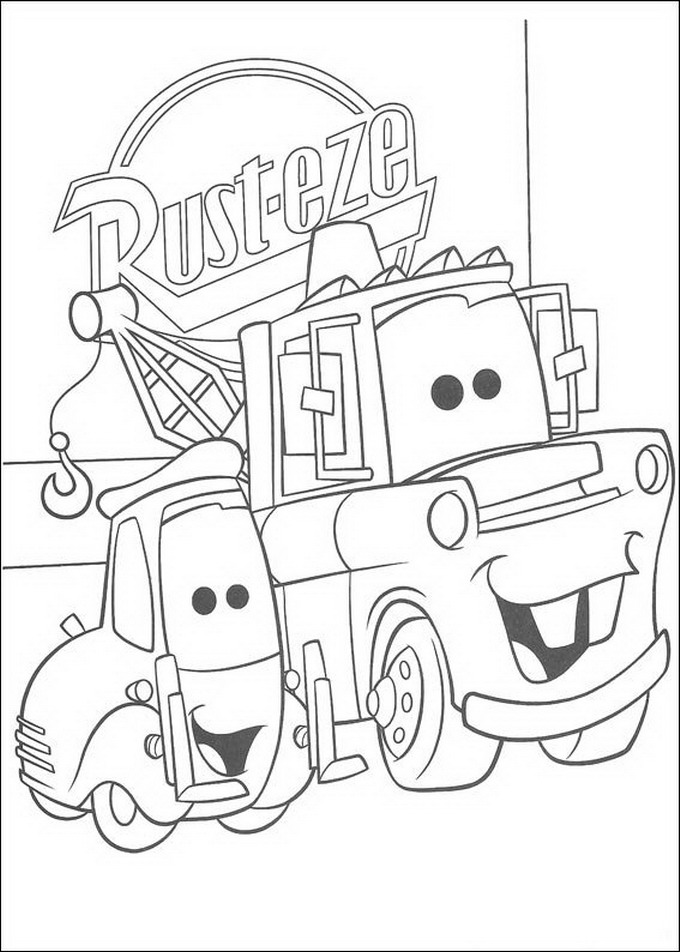 guido cars coloring pages - photo#7