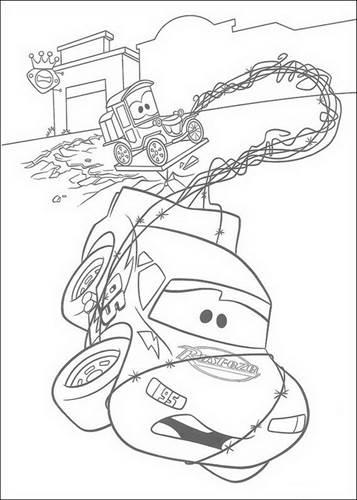 Kleurplaten Bliksem Mcqueen.Kids N Fun 84 Kleurplaten Van Cars Pixar
